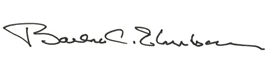 Barbro C. Ehnbom signature